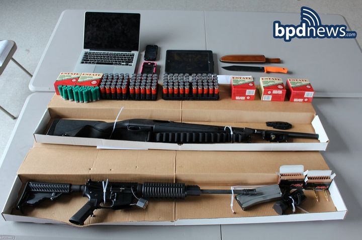 Weapons recovered by police.