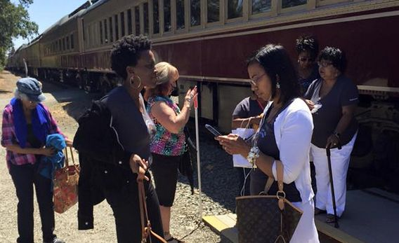 Eleven women who were removed from a Napa Valley wine train on Saturday say they were singled out because the group was