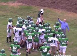 Football Team Helps Kid With Rare Brain Disorder Score A Touchdown