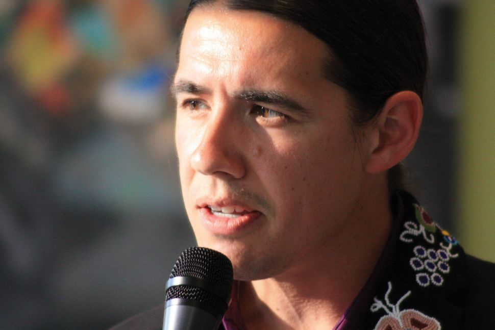 Robert Falcon-Ouellette is challenging NDP incumbent Pat Martin in inner-city Winnipeg, Manitoba.
