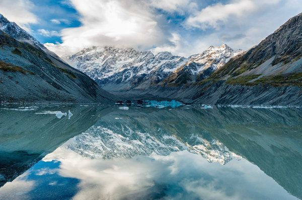 <p>Hooker Lake, a glacial lake popular with hikers.</p>