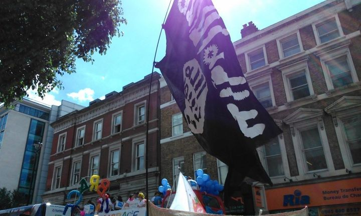 The Dildo ISIS flag at the London Pride Parade.