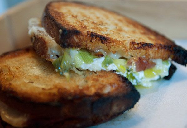 "Adam Schneider based the signature dish at his New York grilled cheese restaurant <a href=""http://littlemuenster.com/"" target"