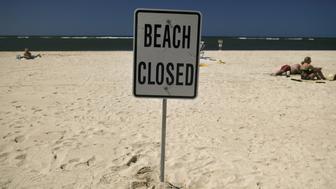 <p>Most of the famed beach fronting Waikiki was closed on Monday after heavy rains triggered a half-million gallon sewage spill.</p>