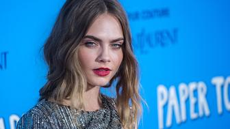 NEW YORK, NY - JULY 21:  Model Cara Delevingne attends the 'Paper Towns' New York Premiere at the AMC Loews Lincoln Square on July 21, 2015 in New York City.  (Photo by Mark Sagliocco/Getty Images)