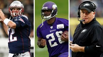 <p>Superstars Tom Brady and Adrian Peterson, along with Philadelphia Eagles head coach Chip Kelly, are all sure to be huge topics of conversation&nbsp;this season.</p>
