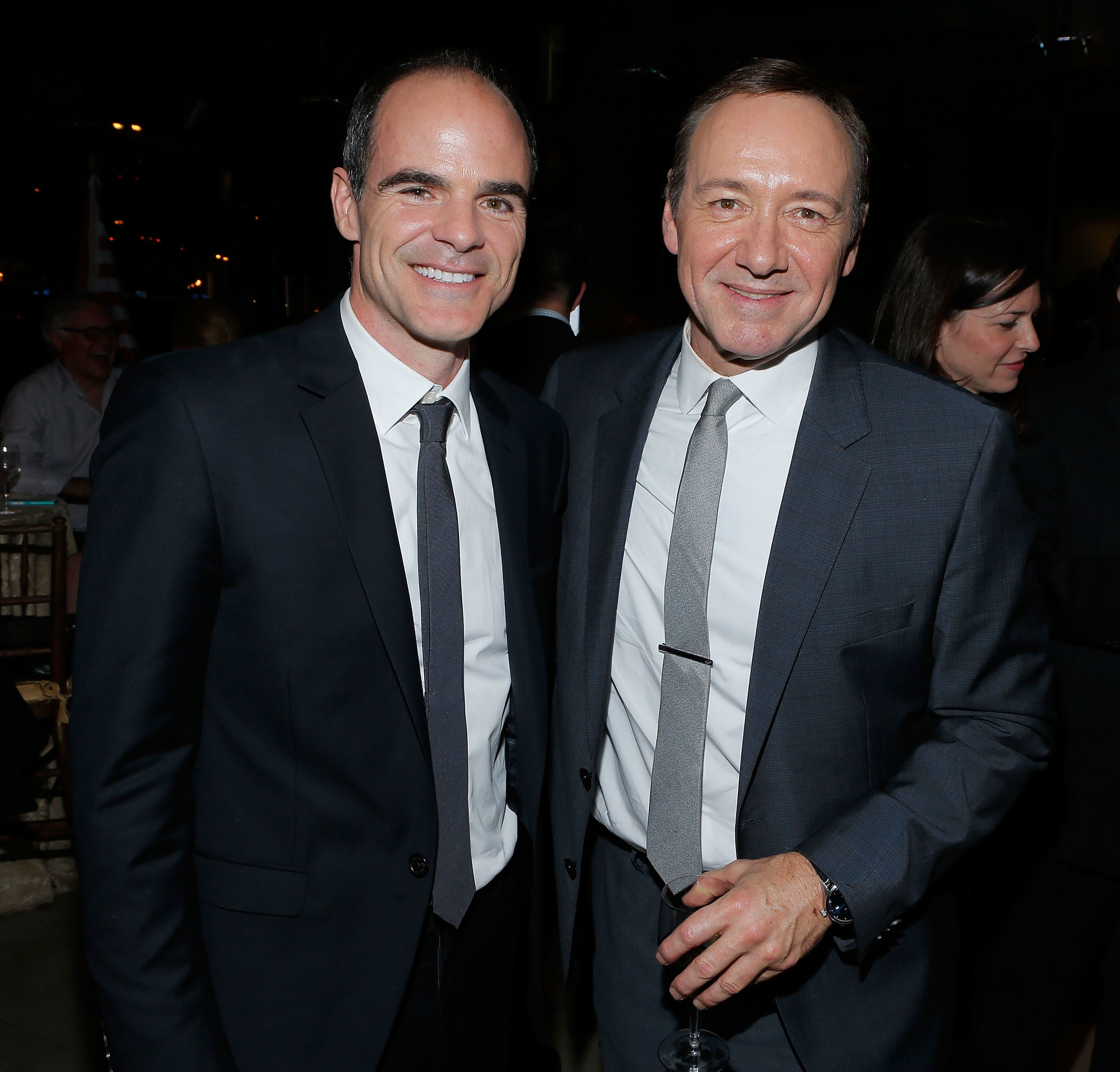 NEW YORK, NY - JANUARY 30:  Actors Michael Kelly and Kevin Spacey attend Netflix's 'House Of Cards' New York Premiere After Party at Alice Tully Hall on January 30, 2013 in New York City.  (Photo by Jemal Countess/Getty Images)