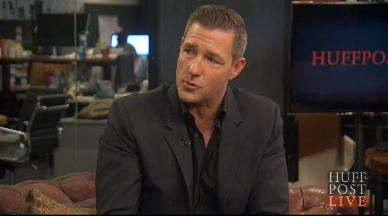 Ed Burns on the set of HuffPost Live