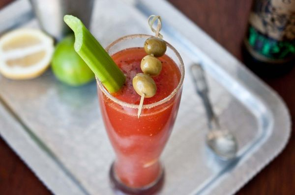 """<strong>Get the <a href=""""http://thebeeroness.com/2012/07/23/brewed-mary-beer-bloody-mary/"""" target=""""_blank"""">Beer Bloody Mary r"""