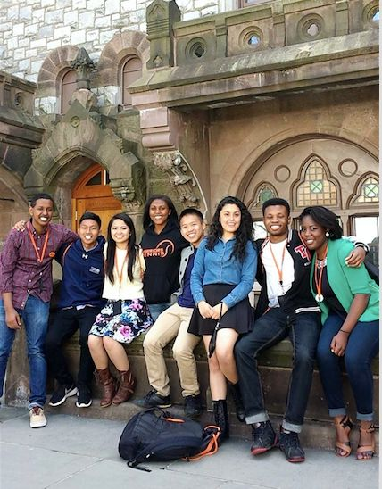 Andazola Marquez with fellow LEDA Scholars at Princeton in 2013.