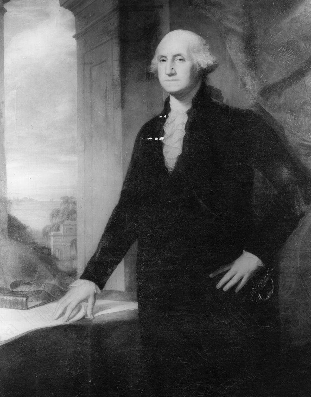 "<a href=""https://www.whitehouse.gov/1600/presidents/georgewashington"">1st President</a> of the United States (Photo by Three"