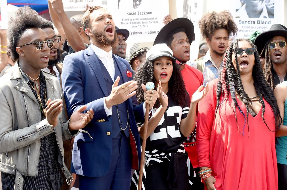 "Janelle Monae&rsquo;s Wondaland labelmates have been <a href=""http://www.nbcbayarea.com/entertainment/Janelle-Monae-Rally-Sto"