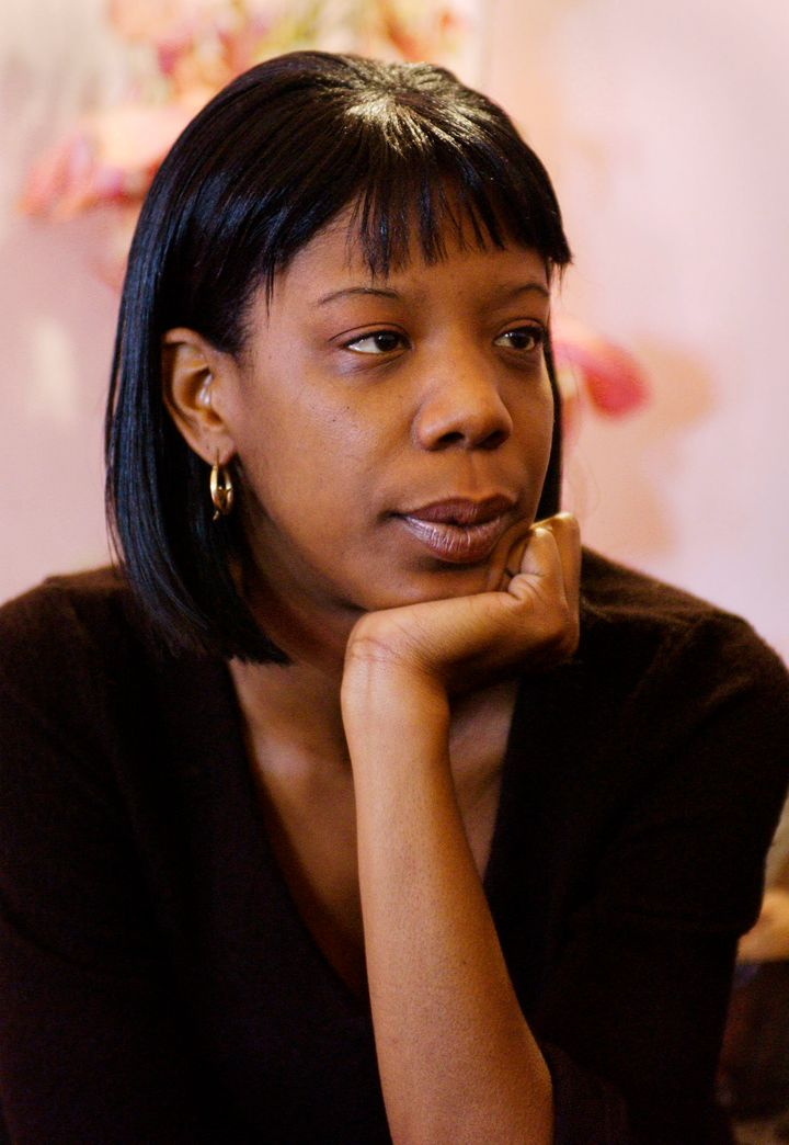 Marcy Borders, survivor of the 11 September 2001 attack on the World Trade Center, is seen during an interview in her apartme