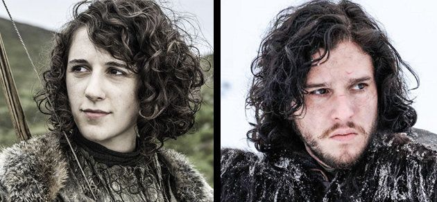 Meera Reed and Jon Snow.