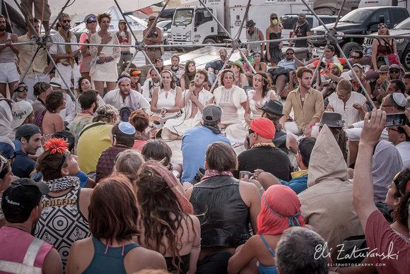 <p>Milk & Honey's Shabbat serviceat Burning Man in 2014.</p>