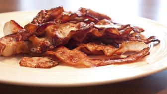Fresh homemade bacon