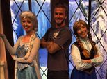 Cool Dad David Beckham Hangs Out With 'Frozen' Royalty
