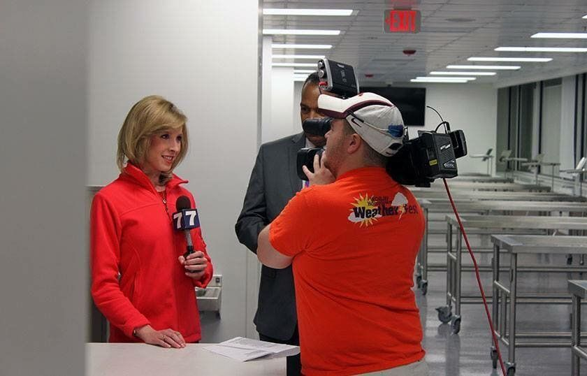 Photographer Adam Ward and TV reporter Alison Parker are seen in this photo from Facebook.