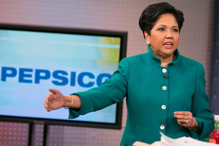 Indra Nooyi, the CEO of&nbsp;<span>PepsiCo. New research finds&nbsp;that women in management see greater pay disparities with