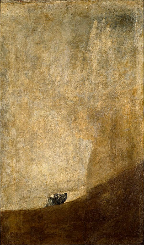 "<a href=""https://en.wikipedia.org/wiki/File:Goya_Dog.jpg"">Francisco Goya, ""The Dog,""&nbsp;circa 1819&ndash;1823</a>"
