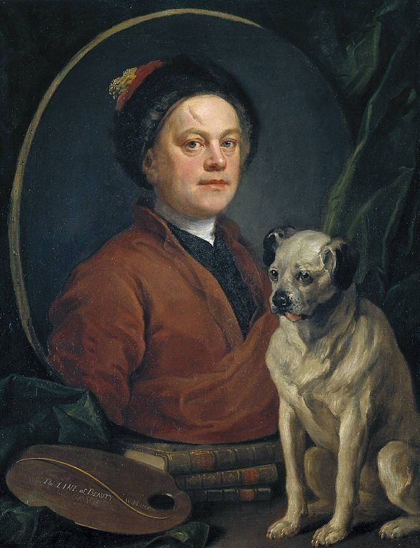 "<a href=""https://en.wikipedia.org/wiki/File:The_Painter_and_His_Pug_by_William_Hogarth.jpg"">William Hogarth, ""Painter and his"