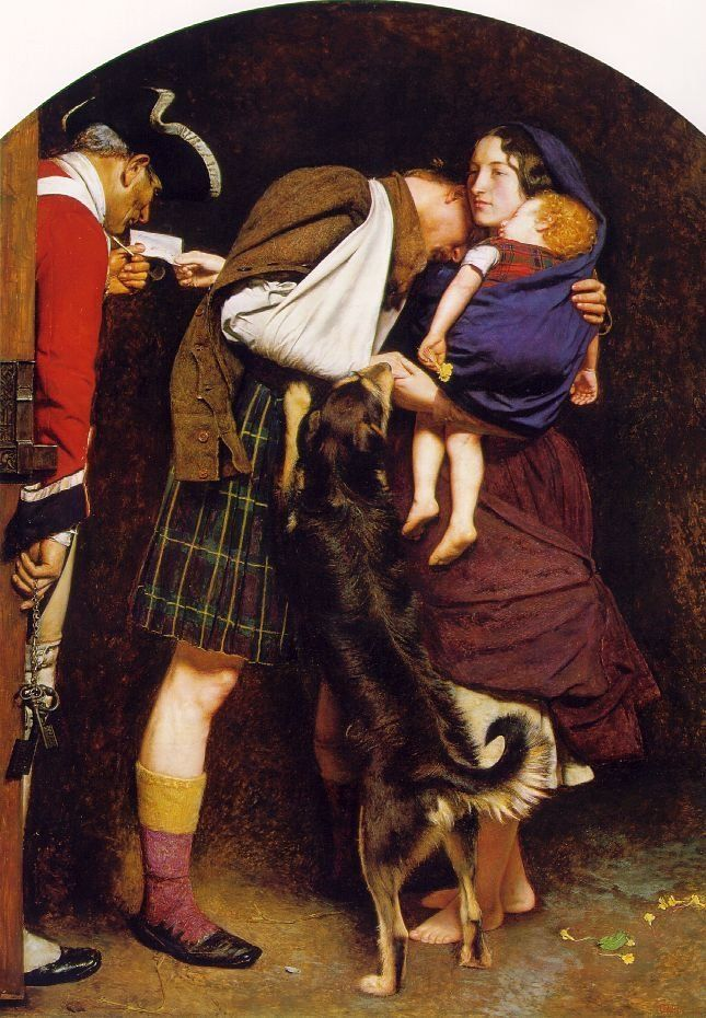"<a href=""https://en.wikipedia.org/wiki/File:Millais_Order_of_Release.jpg"">John Everett Millais, ""The Order of Release,"" 1746<"