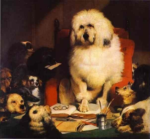 "<a href=""https://en.wikipedia.org/wiki/File:Edwin_Landseer_Trial_By_Jury.jpg"">Sir Edwin Landseer, ""Trial by Jury,"" or ""Laying"
