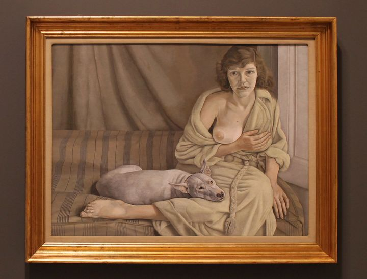 "Lucian Freud, ""Girl with a white dog,"" 1951–1952"
