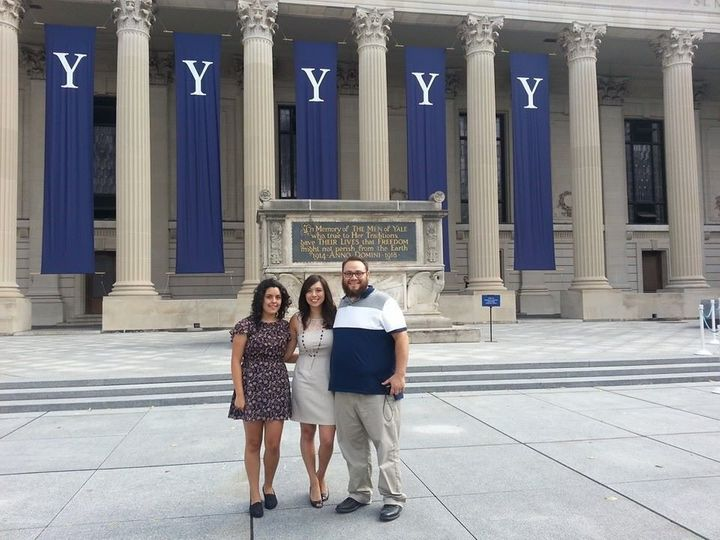 Andazola Marquez with Mr. Munoz and his wife at Yale in 2014.