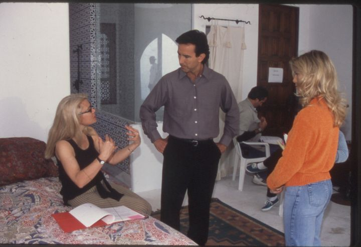 "Candida Royalle at work directing the 1998 film, ""Eyes Of Desire."""