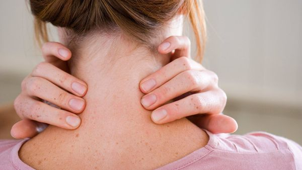 <strong>Why it could be stress:</strong> You may be holding all that tension you're feeling in your neck and shoulders, a ver