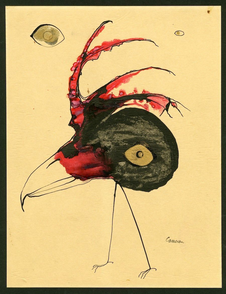 Walking Bird n.d. ink and watercolor on paper 14 x 11 inches (image) 35.6 x 27.9 centimeters