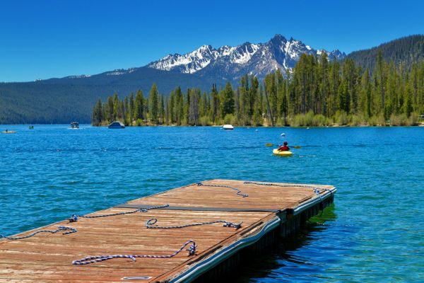 """<a href=""""http://www.redfishlake.com/camping-near-lodge/"""">A number of picture-perfect camping spots</a>will get you clos"""