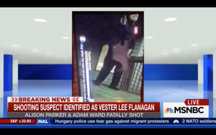 MSNBC generally freeze-frames footage before material gets violent, a spokesperson said.