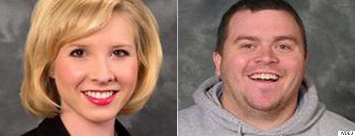 <span>A gunman shot and killed reporter Alison Parker, left, and cameraman Adam Ward, right, during a live news broadcast on