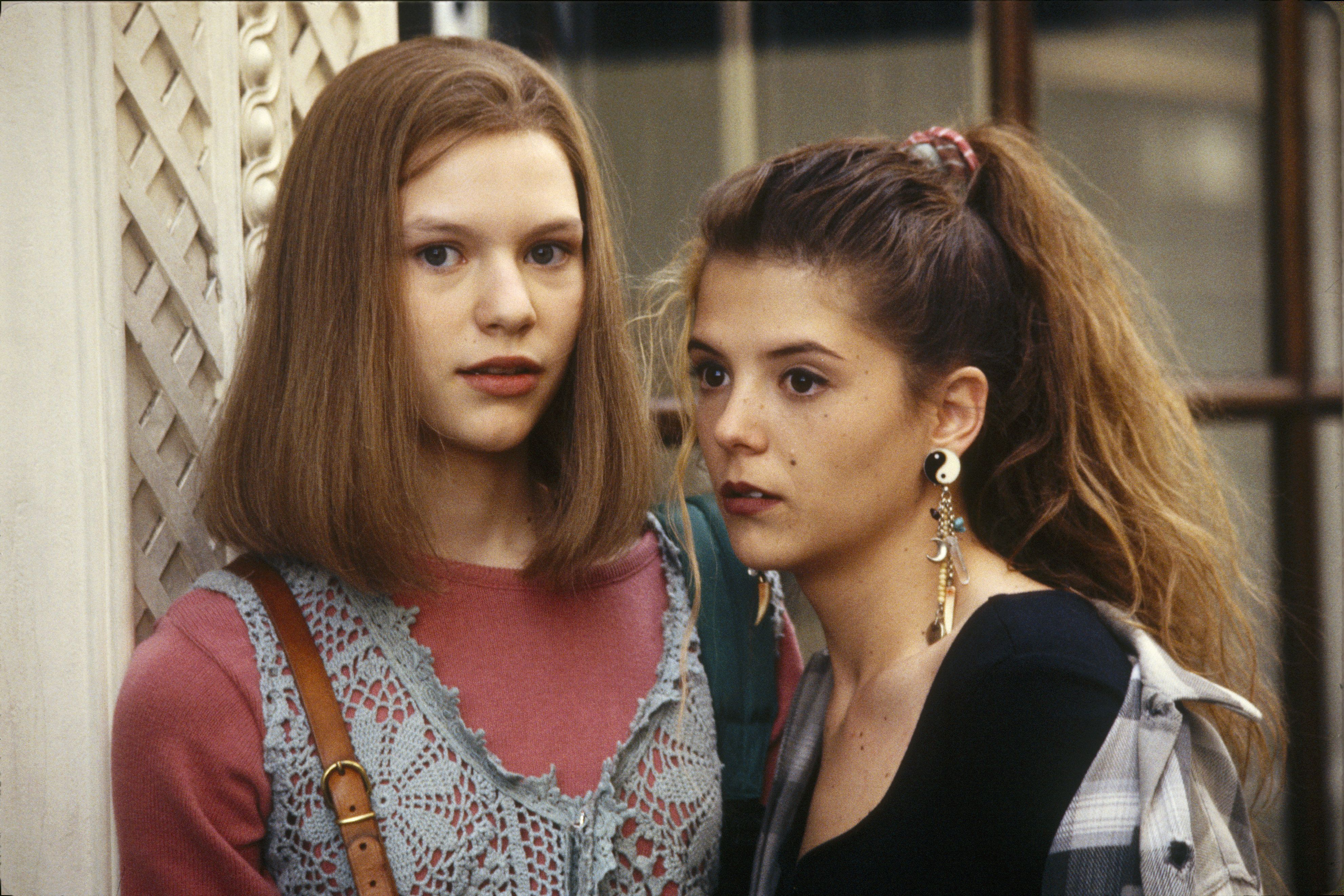 UNITED STATES - AUGUST 25:  MY SO-CALLED LIFE - pilot - 8/25/94, Claire Danes (left) played Angela Chase, a 15-year-old who wanted to break out of the mold as a strait-laced teen-ager and straight-A student. A.J. Langer (Rayanne Graff) also stars.,  (Photo by ABC Photo Archives/ABC via Getty Images)