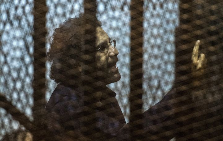 Alaa Abdel Fattah is serving a five-year jail sentence for protesting military trials for civilians.