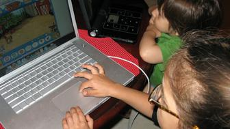 Screen time is still very limited, but the kids enjoy the chance.
