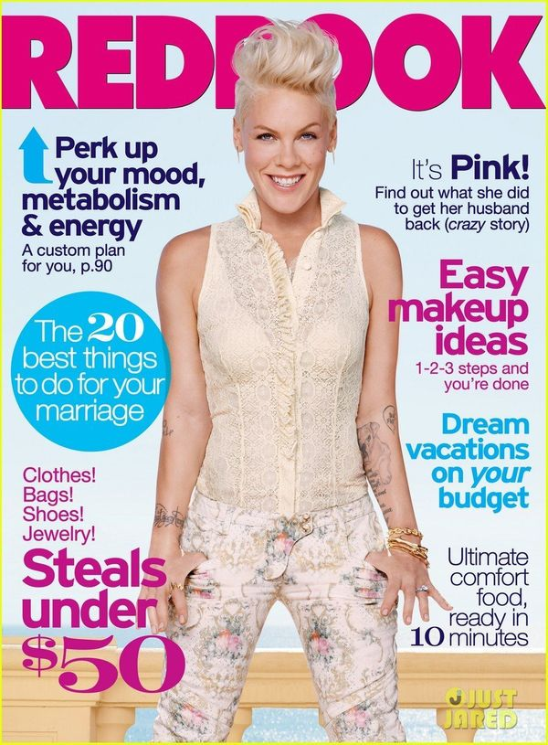 """""""Hanging upside down and being physical makes me feel beautiful,"""" Pink <a href=""""http://www.redbookmag.com/life/friends-family"""