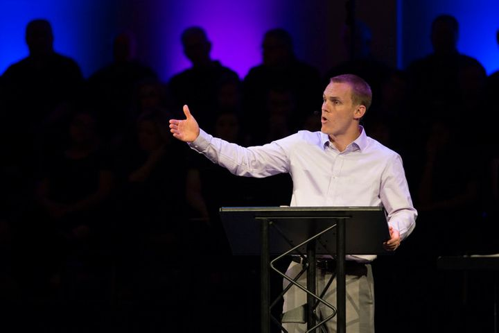 <span>International Mission Board President David Platt challenges the congregation at Highview Baptist Church in Louisville,