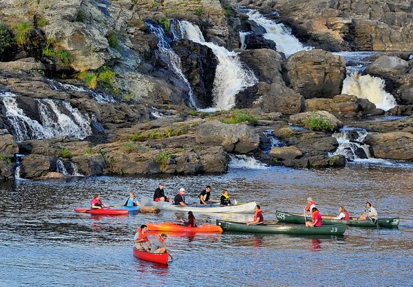 """A <a href=""""http://www.visitnh.gov/vacation-ideas/summer-vacations.aspx"""">three-day guided canoe trip</a>takes you past h"""