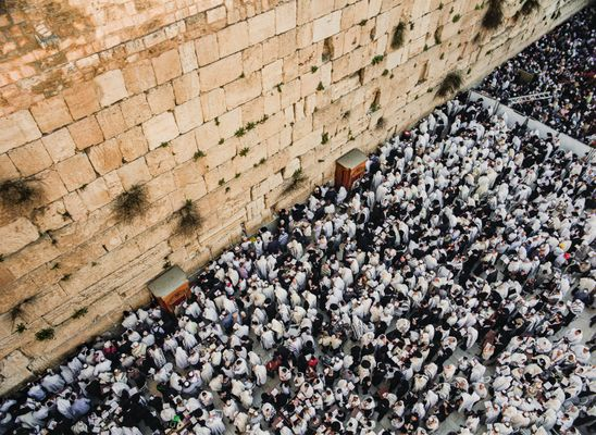 220-Pound Stone Drops From Western Wall, Narrowly Missing