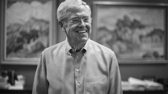 WICHITA, KS    JULY 29:  Charles Koch, 79, is photographed in his office at Koch Industries in Wichita, Kansas, on Wednesday, July 29, 2015. Koch Industries is working with Democrats and Republicans to reform the criminal justice system. (Photo by Nikki Kahn/The Washington Post via Getty Images)