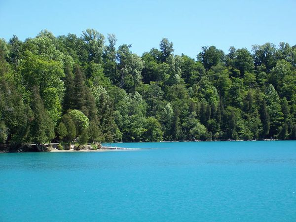 """If theCaribbean seemstoo far away, the brilliantblue water at<a href=""""http://nysparks.com/parks/172/a"""