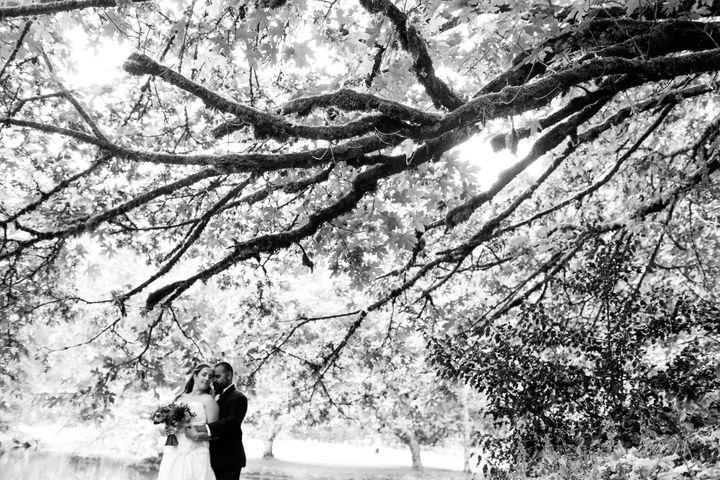 <p>The happy couple.</p>