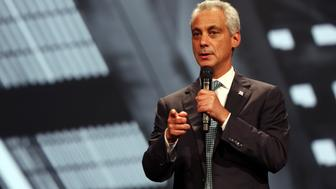 CHICAGO, IL - AUGUST 13:  Chicago Mayor Rahm Emanuel attends the Inspirational Forum during Opportunity Fair and Forum on August 13, 2015 in Chicago, Illinois.  (Photo by Tasos Katopodis/Getty Images for 100,000 Opportunities Initiative)