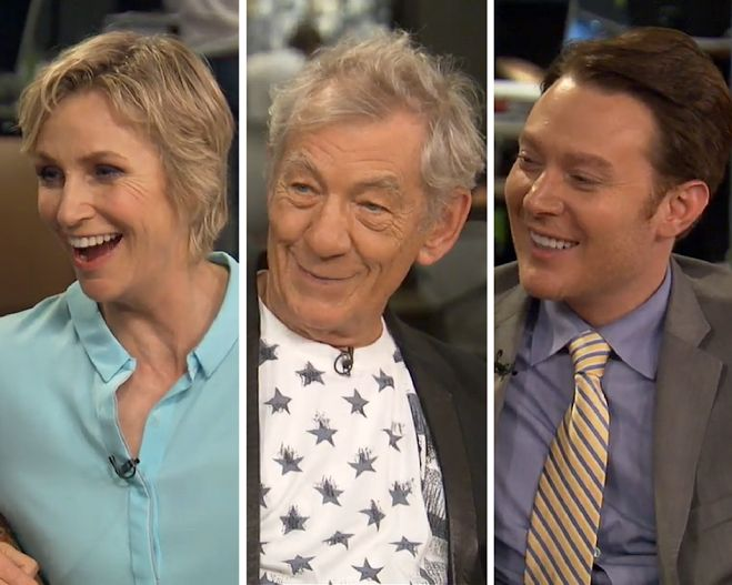 Jane Lynch, Ian McKellen and Clay Aiken on HuffPost Live