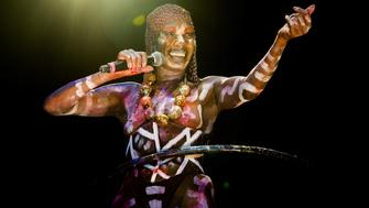 BROOKLYN, NY - AUGUST 22:  Grace Jones performs onstage at Afropunk Fest at Commodore Barry Park on August 22, 2015 in Brooklyn, New York.  (Photo by Roger Kisby/Getty Images)
