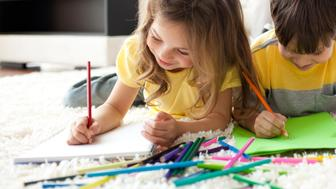 How to organize your kid's art work.