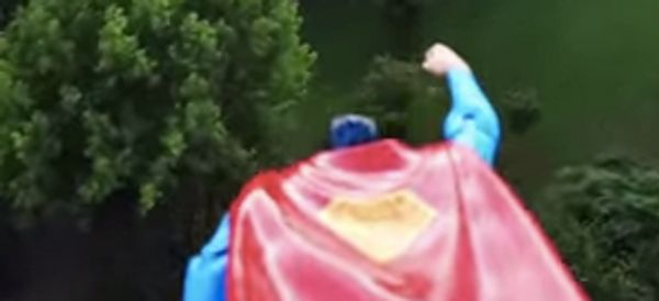 London Is Being Watched Over By Superman Toy Taped To A Drone
